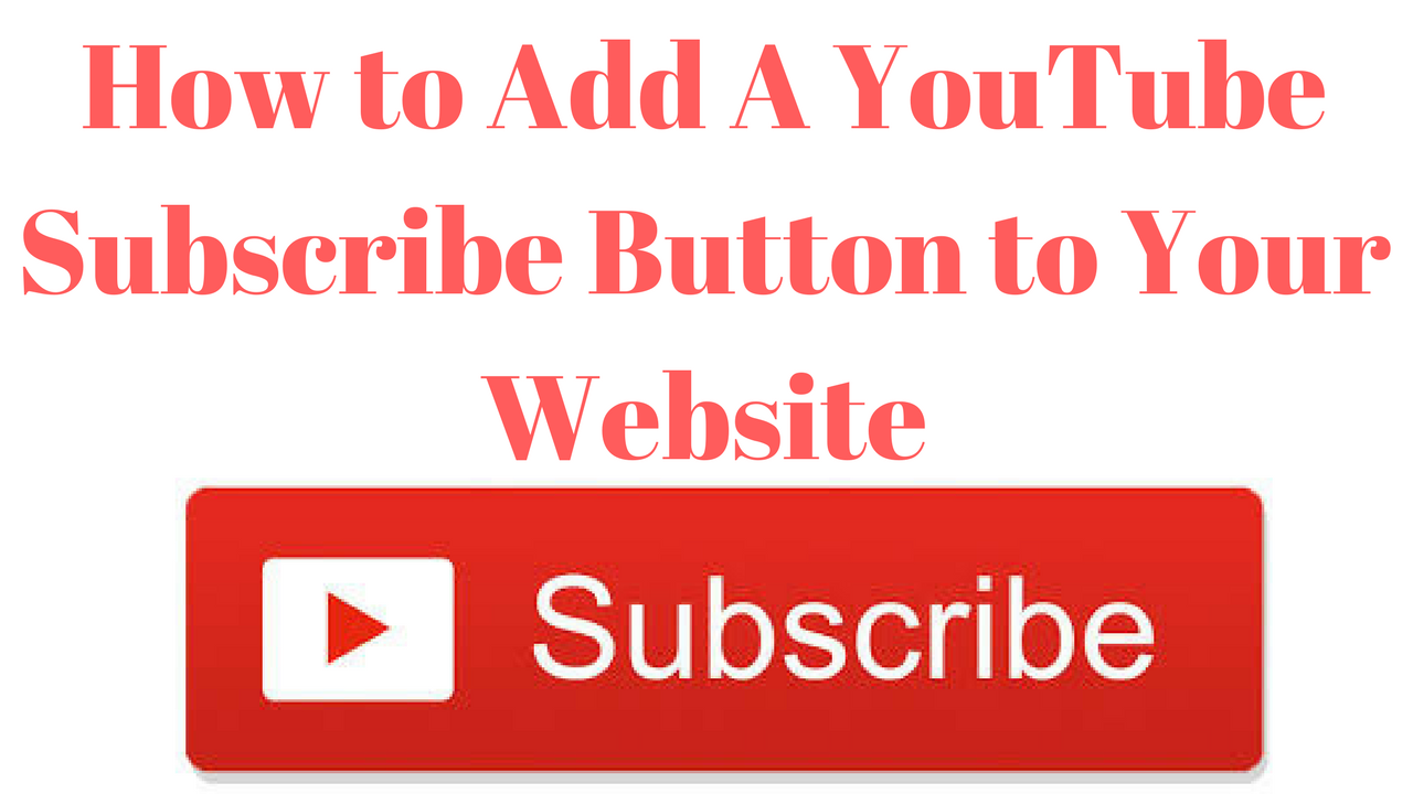 how to add a youtube subscribe button to your website adam payne